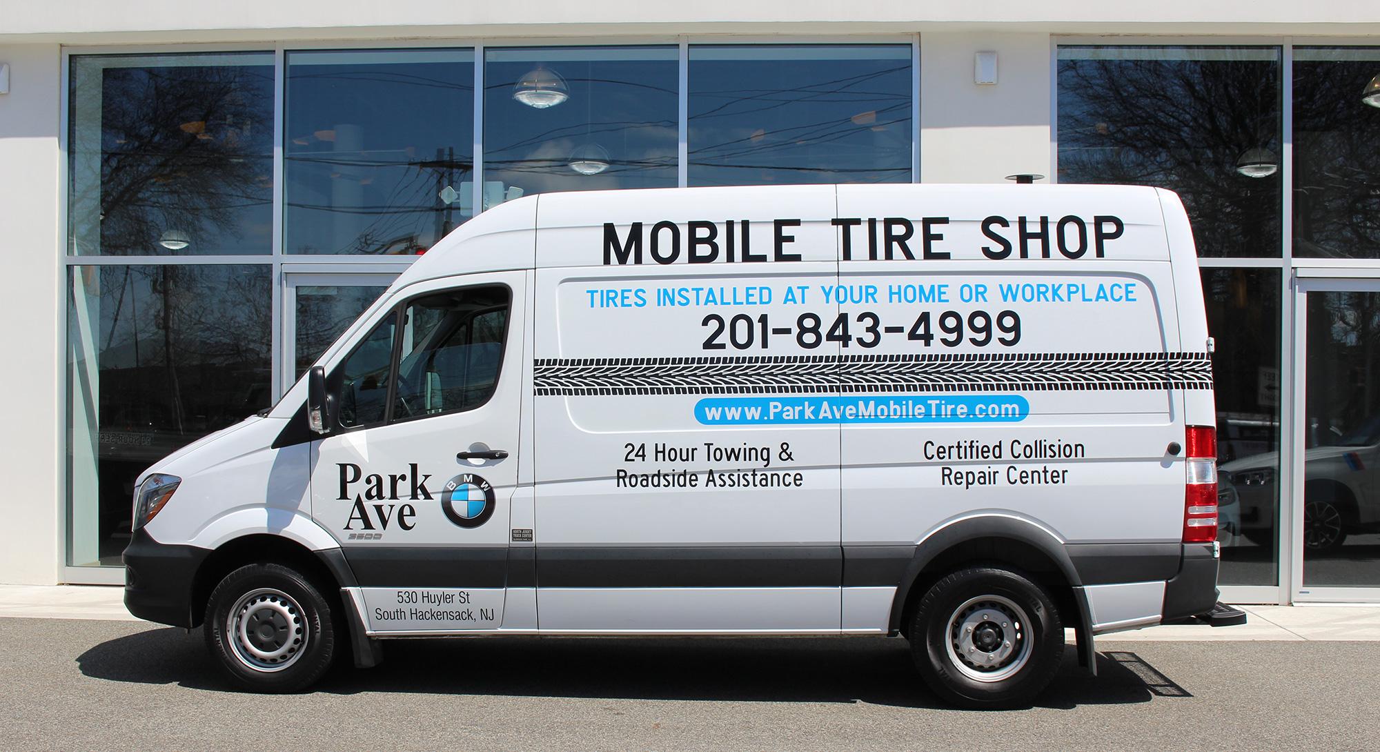 Mobile Tire Service >> Park Ave Bmw Mobile Tire Van